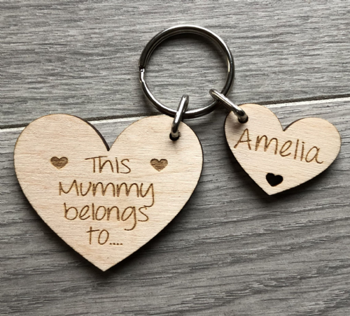 This Mummy belongs to heart keyring